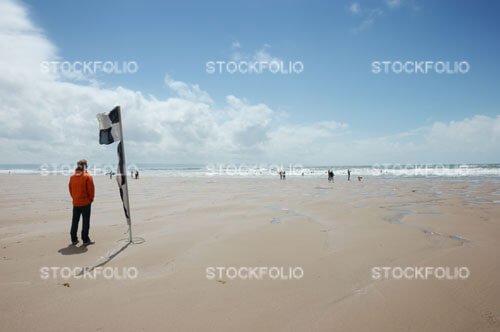 Lifeguard on Croyde Beach