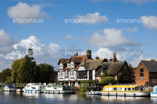 The Swan Inn on the River Bure at Horning