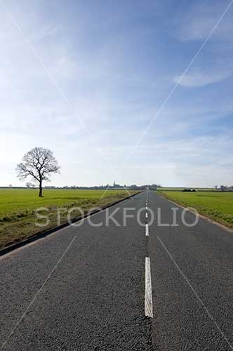 Long open road stretching into the distance