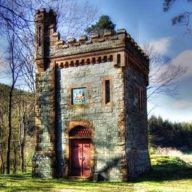 Folly at Thirlmere reservoir in the Lake District