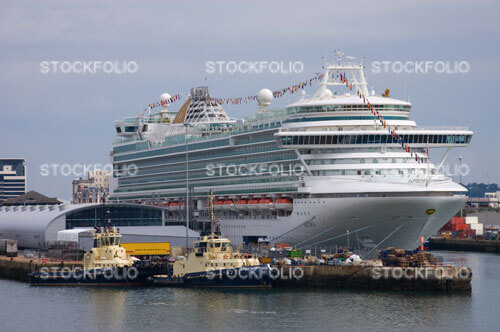Cruise ship Azura docked at Southampton
