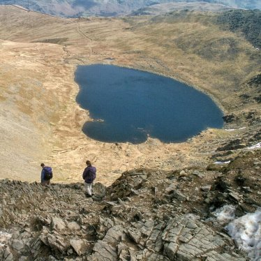 Red Tarn and Swirrell Edge, Helvellyn, Lake District