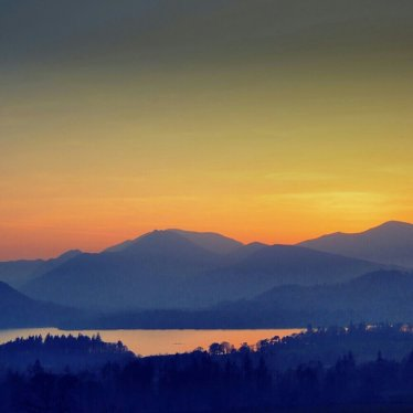 North Western Fells at Sunset, Lake District