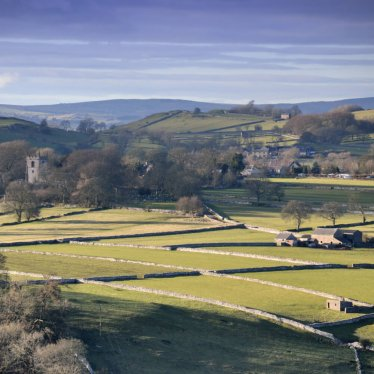 Aerial View of Alstonefield, Peak District