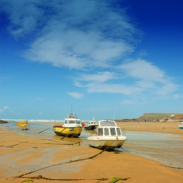 Boats, Summerleaze Beach, Bude, Cornwall