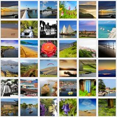 landscape photo grid