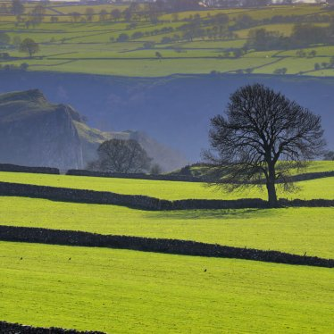 Manifold Valley from Wetton in the Peak District