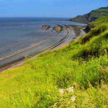Robin Hoods Bay looking towards Ravenscar