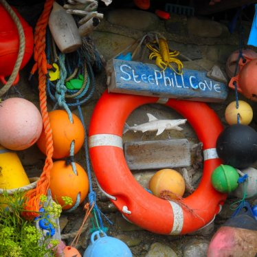 Boating paraphernalia at Steephill Cove, Isle of Wight