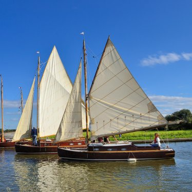 Yachts on the River Thurne at Potter Heigham
